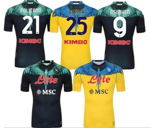 21 22 Napoli Soccer Jersey Verdi Football Shirt 2021 Koulibaly Camiseta de Fútbol Insigne Maradona Maillot Foot Mertens Camisa