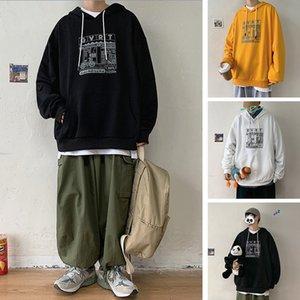 Перт расслабленный студент свитер с капюшоном 21 весна Новая пара печати Пальто корейской вершины
