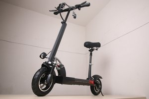 Folding Electric Scooter bikes 500W Motor 48V 15Ah 25km h 10 Inch Tire E-scooter 150kg Load Including Seats