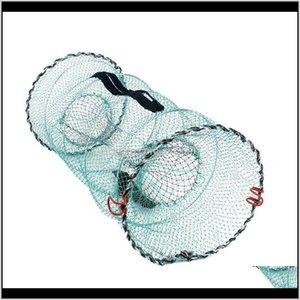 Accessori rafforzati 620 fori matic gamberetti gabbia in nylon pieghevole pesch trappola da pesci rete fieno pieghevole rete da pesca 4hyd1 Bysuq