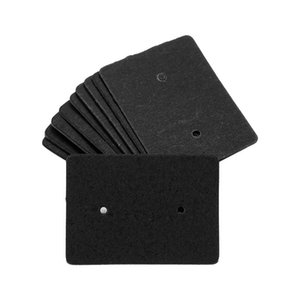 Jewelry Pouches, Bags 100pcs pack Price Tag Blank DIY Rectangle Ear Studs Mini Cardboard Packaging Accessories Earring Display Card Bracelat