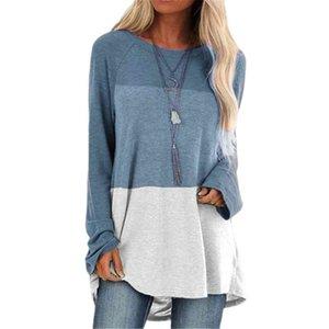 Casual Mouw Women Loose Patcwork Long T-shirt T-shirts Woman Clothings S-5XL Teas O-neck Cat Top Shirt Plus size