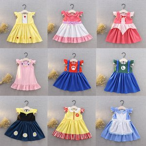 kids summer clothes girls skirt childrens cartoon Princess tutu baby formal lace pageant Party dress Wedding Christmas 2371 Y2