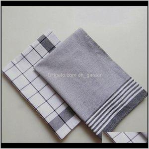 Têxteis Têxteis Home Jardim Drop entrega 2021 Estilo Nórdico Estilo de Algodão de Algodão Tingido Guardanapo Listrado Cozinha Pequena Toalha de Toalha de Toalha de Toalha