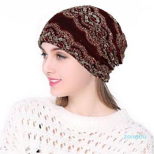 Women's Beanie Hat Winter Warm Women Wool Knitted Beanie Hat Cuff Watch Cap for Girls Hats for Female Sombreros Mujer1