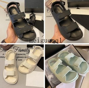 2021 Super hot new sandals, luxury men's and women's sandals, designer men's sandals, designer women's sandal, Velcro flat sandal35-45