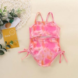One-Pieces Girls Swimwear Toddler Baby Summer One-piece Swimsuit Tie-dye Color Sweet Traje De Baño Niña