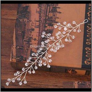 Crystal Leaf Handmade Combs Jewellery Pearl Beads Tiara Bridal Headpiece Women Wedding Jewelry Sl Xpwyv Halue