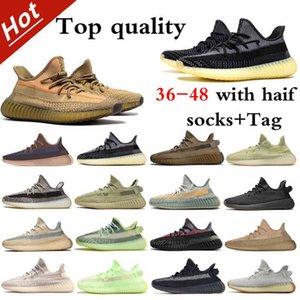2021 3 M Yansıtıcı Koşu Ayakkabıları En Kaliteli Kutusu ve El Çantası Hediye Için 2021Hotest Erkek Bayan Külül Zebra Kuyruk Işık Israfil Statik Boyutu