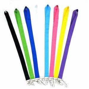 Pure Color Lanyard Keys Phone Holder Funny Neck Strap With Keyring ID Card DIY Animal webbings ribbons Hang Rope