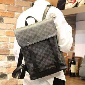 Backpack Bag Men's 2021 Модный бизнес 14-дюймовый компьютер можно загрузить с кожаной текстурой благородной и универсальной и универсальной