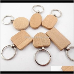Party Favor Creative Wooden Keychain Chains Round Square Rec Shape Blank Wood Rings Diy Key Holders Gifts Hha3458 Eqcg4 D1N8K