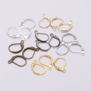 20pcs lot 15*10mm Gold French Lever Earring Hooks Wire Settings Base Hoops Earrings For DIY Jewelry Making Supplies 1240 Q2