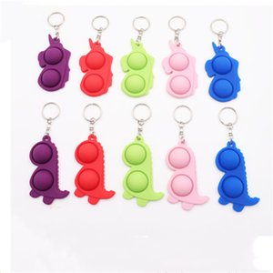 Push Bubble Keychain Kids Novel Fidget keychains Simple Toy Key Holder Rings Bag Pendants decompression Gift