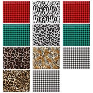 Window Stickers 11PCS Iron-on Heat Transfer Christmas Craft Film Plaid Garment Decoration