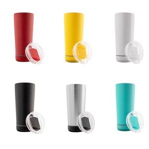 18 oz kupalar müzik su şişesi ile kablosuz çift duvar paslanmaz çelik yaratıcı içme fincan hoparlör taşınabilir bardak