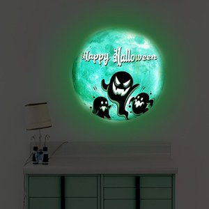 Window Stickers Halloween Glowing Wall Glass Stickers-ghost Decoration That Glows In The Dark Detachable Household Doors