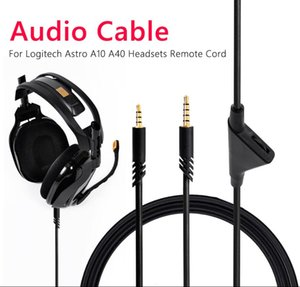 2m Audio Aux Cables Replacement Game Headsets Repair Parts Accessories for Astro A10 A40 A30 Headphone remote Cord Inline Mute   voice control
