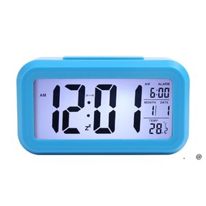 Smart Sensor Nightlight Digital Alarm Clock with Temperature Thermometer Calendar,Silent Desk Table Clock Bedside Wake Up Snooze FWE5906