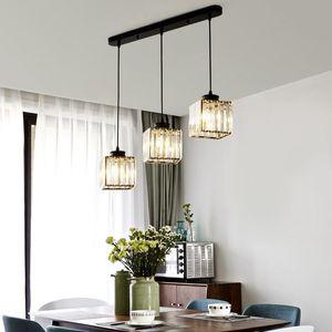 Pendant Lamps 2021 Modern Crystal Chandelier Lighting For Living Room Dining Home Decoration AC85-240V LED E27 3Heads Chandeliers