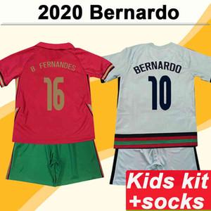 Joao 2021 Felix Bernardo Pizzi Kit enfants Jerseys Soccer Team National Team B. Fernandes J. Moutinho Ruben Dias Home Home Shirt de football enfant
