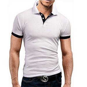 T Polo Camisa Camiseta casual de los hombres Paul Manga corta Publicidad en blanco Publicidad