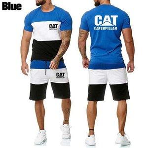 Chándal de los hombres Trajes de verano Fitness Fitness Empalme de manga corta Pantalones cortos de alta calidad Personalizada personalizada Actividad al aire libre Cotto