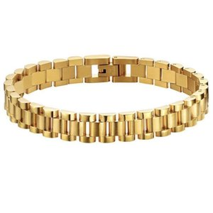 Fashionable titanium steel watch with detachable bracelet gold plated link chain