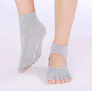 Fitness slip open toe backhoe Yoga five finger dance socks