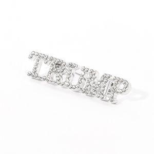 Trump 2024 Brooch DIY Diamond Badge Crafts