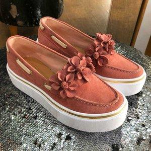 Luxurys Designers Shoes Canvas Sneakers Women Casual Shoes Platform Flowers Flats Heel Round Toe Espadrilles Ladies Loafers Shoe