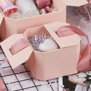 Gift Packing Ins Birthday Box Empty Schoolgirl Hand Surprise Sense Of Ritual Present Wrap