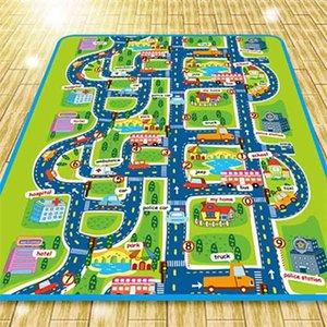 Extra große, wasserdichte, kratinente Krabbelmatte, Stadtleben groß für das Spielen mit Autos und Spielzeug, Kinderpädagogik-Verkehr P 210402