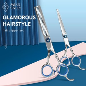 Miss Sally Hair Scissors 6 inch Cutting Thinning Styling Tool Stainless Steel Salon Hairdressing Shears Regular Flat Teeth Blade