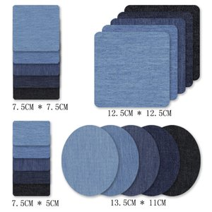 20pcs set DIY Sewing Tools Denim Patches for Jeans Kit 4 Shades of Blue Iron On Jean Patch Clothing Repair