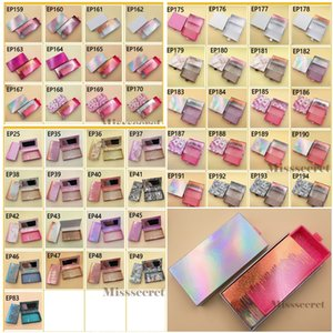 53 Styles Magnetic Empty Eyelash Packaging Box 3D Mink Lash Bling Boxes Package Eye Lashes Rectangle Square Case Without Tray Private Customize Service