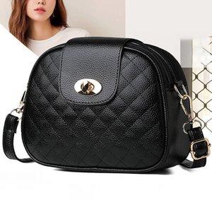 2021 New Mini PU Shoulder Bags For Women Double Zippers Multi-layer Black Messenger Crossbody Bags Fashion Diamond Lattice Bag C0508