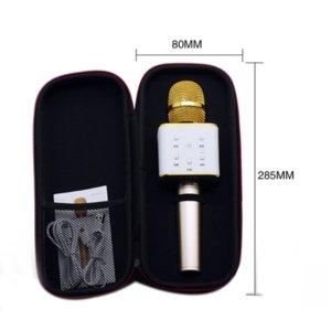 Karaoke Q7 El Mikrofon Bluetooth Kablosuz KTV ile Hoparlör Mic Microfono Taşınabilir Oyuncu