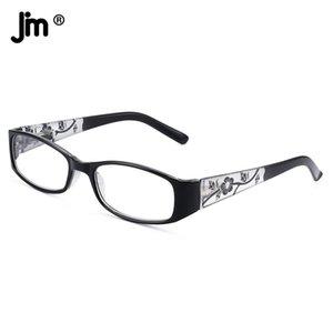 JM Vintage Spring Hinge Square Reading Glasses Women Thicken Arm Vintage Magnifier Presbyopic Diopter Glasses