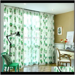 Curtain Drapes Modern Tropical Plants Print Windows Half Blackout Tulle Living Room Bedroom Curtains Can Be Customized O8Cxn 6Pey4