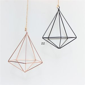 hanging Air Plant Holder Modern Geometric Planter Container Air Plant Rack Planters Pots Wall Decor five sided HWB8935
