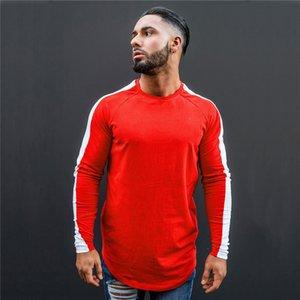 Hirigin harajuku unif joggers uomini camicie moda uomo manica lunga uomo girocollo t-shirts casual fitness top hip hop