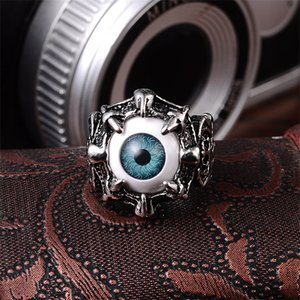 Stainless Steel Rings Silver Brand Demon Eye Vintage Mens Punk Ring China Wholesale Stainless Steel Jewelry Steampunk Men's Rings 31 J2