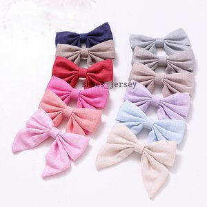 Hot trends in Europe and America Girls hairpin Headdress Cotton and linen cloth Swallowtail butterfly Hairpin Children hairpin monochrome