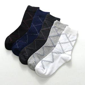 Autumn and inverno Tubo médio Diamante Linha de diamante Big Toe Board Four Seasons Business Cotton Gift Socks