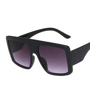Big Frame Sunglasses Face Mask Maschera europea e americana Trend Retro Personality Street Shooting Glasses che conduce la moda