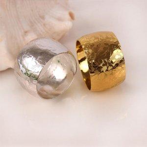 10 / PCS сплава салфетки 4 см диаметр золота / серебро / медный держатель для украшения свадьбы