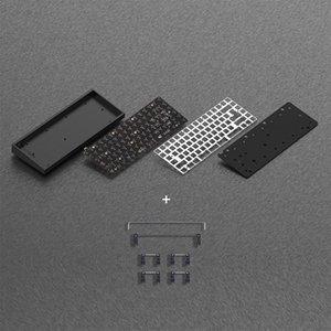 Keyboards Tofu84 Black Gray Silver 75% Solderable Mechanical Keyboard DIY KIT