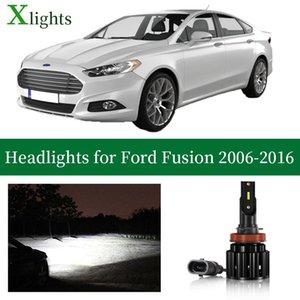 Car Headlights Xlights Led Headlight Bulb For Fusion 2006 - 2021 Low High Beam Canbus 12V 24V Headlamp Lamp Light Lighting Accessories