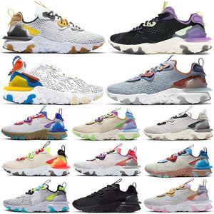 Top Quality React Vision Mens Running Shoes Light Armory Blue Be True Desert Oasis Gravity Purple Orange Volt Vast Grey Women Sports Sneakers